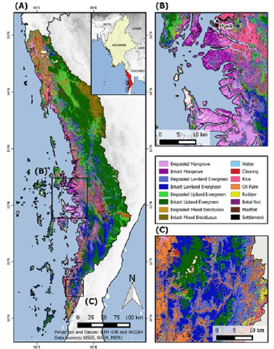 Remote Sensing | Free Full-Text | Mapping Distinct Forest Types Improves  Overall Forest Identification Based on Multi-Spectral Landsat Imagery for  Myanmar's Tanintharyi Region